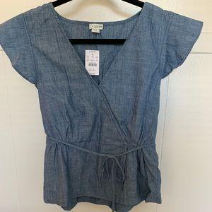 JCREW Criss-Cross Shirt